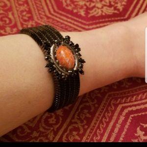 🆕️Dannijo bracelet with orange/black stones